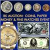 2000+ Items - Gold & Silver Coins, Paper Money & Jewelry!
