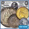 2000+ Items Gold & Silver Coins, Paper Money, Jewelry & More!