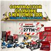 CONTRACTOR CLOSEOUT & POWER TOOL AUCTION