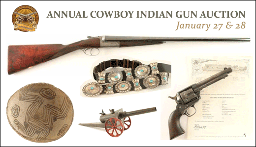 ANNUAL COWBOY INDIAN GUN AUCTION
