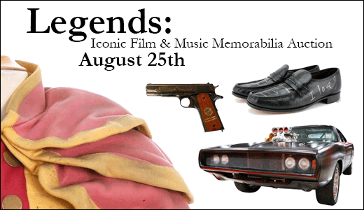 Legends: Iconic Film & Music Memorabilia Auction