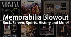 Memorabilia Blowout - Rock, Screen, Sports, History and More