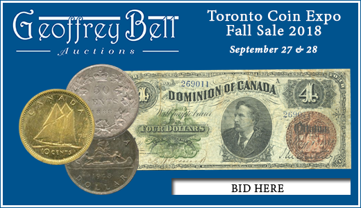 Toronto Coin Expo Fall Sale 2018