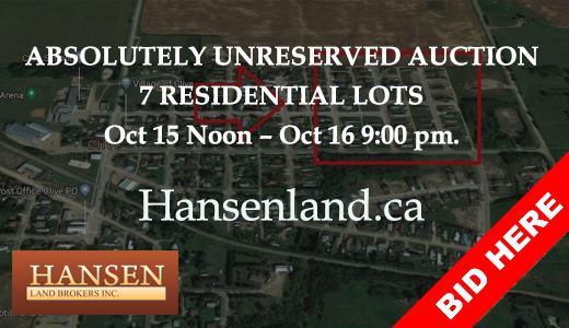 (UNRESERVED) Clive, Alberta residential lot auction