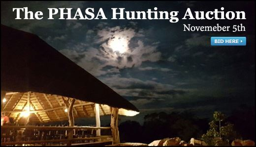 The PHASA  Hunting Auction