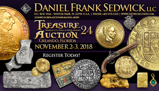 Treasure, World, U.S. Coin & Paper Money Auction 24