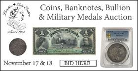 London Coin Centre Auction #3. Coins, Banknotes, Bullion & Military Medals Auction