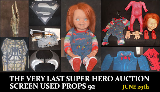 THE VERY LAST SUPER HERO AUCTION SCREEN USED PROPS 92