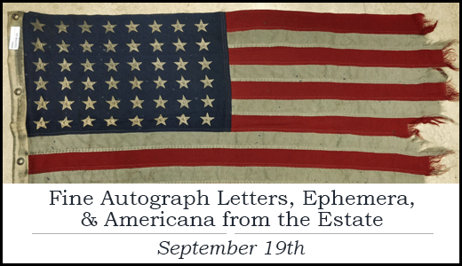 Fine Autograph Letters, Ephemera, and Americana from the Estate of Paul C. Smith