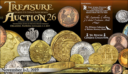 Treasure, World, U.S. Coin & Paper Money Auction 26