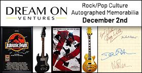 Rock/Pop Culture Autographed Memorabilia