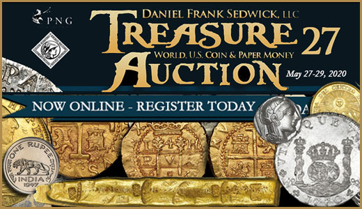 Treasure, World, U.S. Coin & Paper Money Auction 27