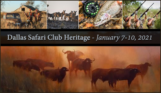 Dallas Safari Club Heritage January 7-10, 2021