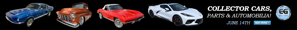 COLLECTOR CARS! MUSCLE CAR PARTS! COLLECTOR CAR PARTS! AUTOMOBILIA! ENDS JUNE 14TH