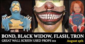 BOND BLACK WIDOW FLASH TRON GREAT WALL SCREEN USED PROPS 102