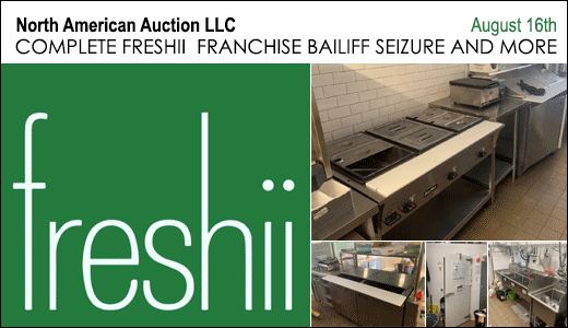 COMPLETE FRESHII  FRANCHISE BAILIFF SEIZURE AND MORE