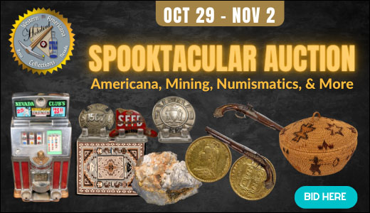 Spooktacular Auction: Americana, Mining, Numismatics, & More  (October 2020)