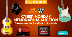 DSC Northeast Cyber Monday Memorabilia Auction