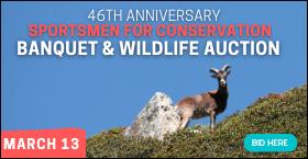 46th Anniversary Sportsmen for Conservation Banquet & Wildlife Auction