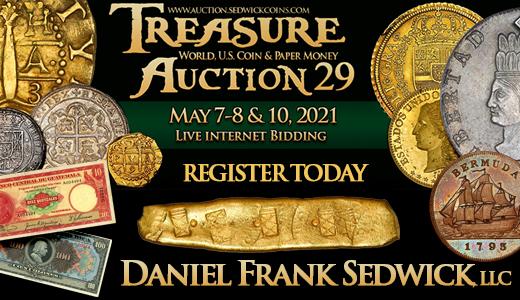 Treasure, World, U.S. Coin & Paper Money Auction 29