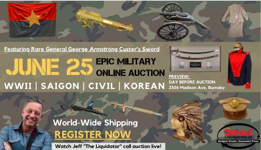 Epic Military Auction - Collectible items from World War 2, Vietnam War, Korean War and Civil War