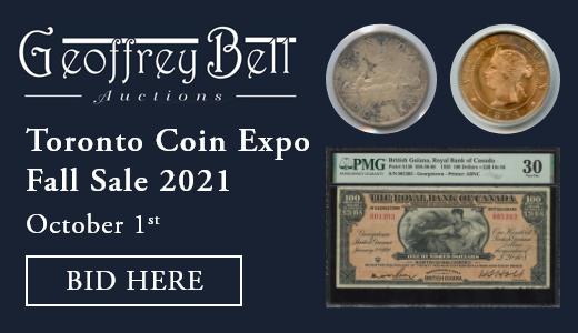 Toronto Coin Expo Fall Sale 2021