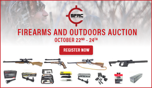 October 22nd, 23rd and 24th Firearms and Outdoors Auction