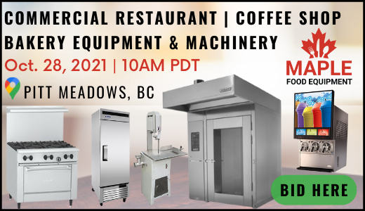Commercial Restaurant, Bakery, Coffee Shop Equipment Auction