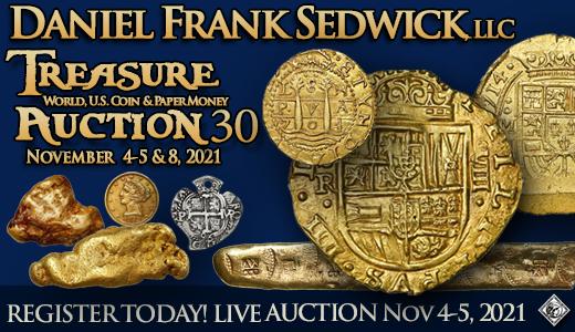 Treasure, World, U.S. Coin & Paper Money Auction 30