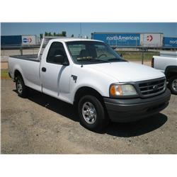 2001 FORD F150 XL TRITON V8 REG CAB, GAS ONLY,