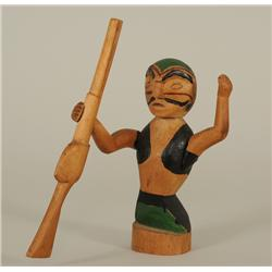 """Carved Northwest Coast Figure of a Hunter with Rifle 6 1/2"""" H.  Good Condition"""