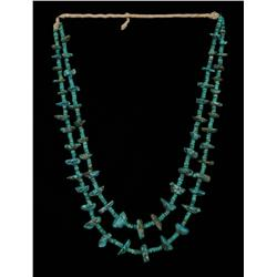 Navajo Two Strand Turquoise Necklace  Fine Condition