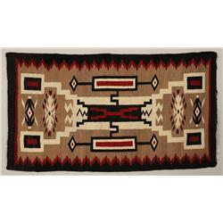"""Navajo Rug with Geometric Pattern 33""""x 59""""  Good Condition with Minor Edge Loss"""