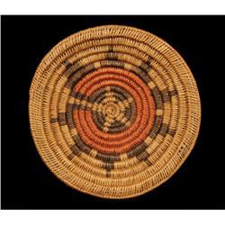 "Navajo Polychrome Wedding Basket 10 1/4"" D.  Good Condition"