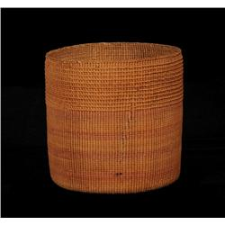 """Haida Spruce Root Basket ca. 1900  4 1/2"""" D. 4 3/4"""" H.  Fine Condition"""
