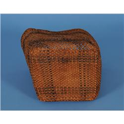 "Haida Woven Cedar Basket 8"" L. 8"" W. 8"" H.  Good Condition"