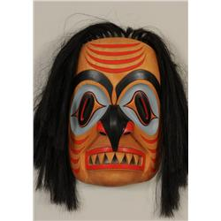 """Nuu-chah-nulth Shark Mask Carved by Tom Patterson 17"""" H. 12"""" W.   Good Condition with Artist Repair"""