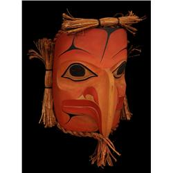 "Eagle Spirit Mask - Carved Red Cedar by Jordon Seward 14"" H. 10"" W.  Fine Condition"