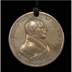 "Mint Struck John Quincy Adams Peace Medal Dated 1825 3"" D.  Good Condition"