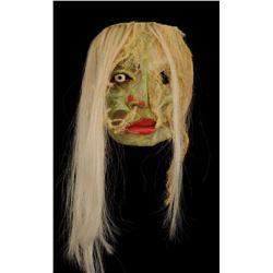 "Kwakwaka'wakw Moss Man Mask by Simon James 11 1/2"" H. 8 3/4"" W.  Fine Condition"
