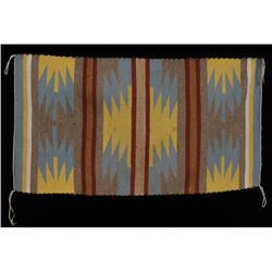 "Navajo Wool Rug ca. 1960  20 1/2""x 38""  Good Condition"