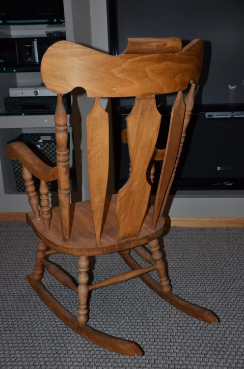 Surprising Classic Tall Wooden Rocking Chair Rocker Yugoslavia Ocoug Best Dining Table And Chair Ideas Images Ocougorg