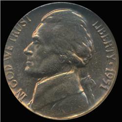 1 pc 1943 Choice//Gem BU Coin S Silver War Jefferson Nickel