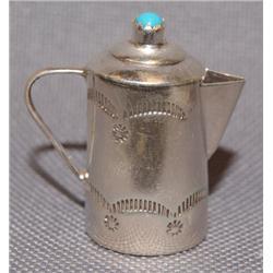 NAVAJO SILVER COFFEE POT