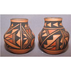 TWO ACOMA POTTERY VASES