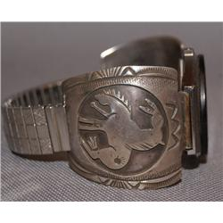 NAVAJO STERLING WATCH BAND