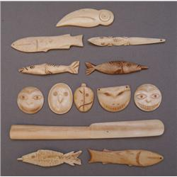CARVED BONE ITEMS
