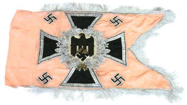 WWII GERMAN HEER PANZER STANDARD SWALLOWTAIL FLAG