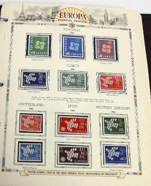 WHITE ACE EUROPA STAMP ALBUM 51 PLATES UNUSED