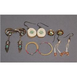FIVE PAIR OF MISCELLANEOUS EARRINGS